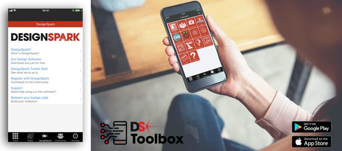 Nova aplicação DesignSpark Toolbox da RS Components disponível para iOS, Android e Windows