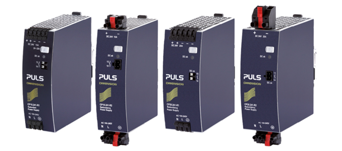 OLFER: séries CP10.241 (R1-R2-R3) de PULS – fontes de alimentação com redundância MOSFET