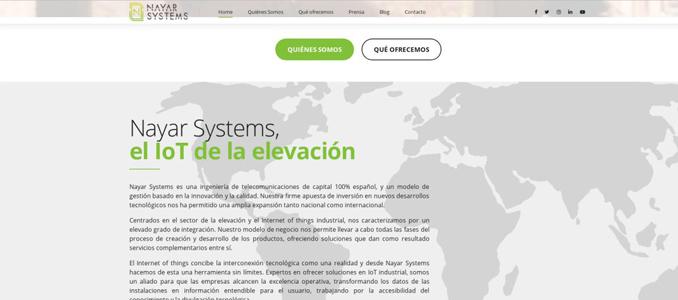 Nayar Systems lançou um novo website, mais acessível, visual e intuitivo