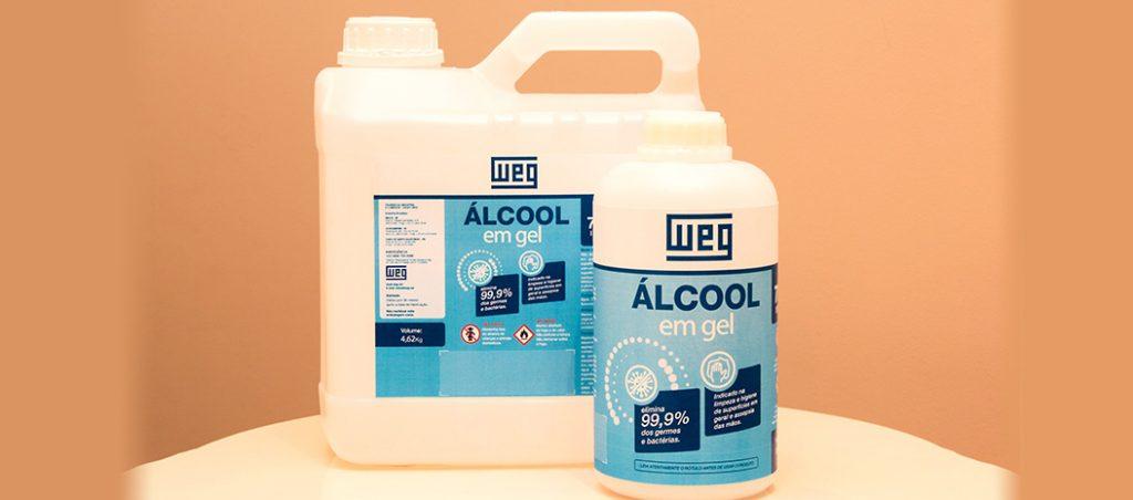 WEG produz álcool gel para doar a hospitais públicos