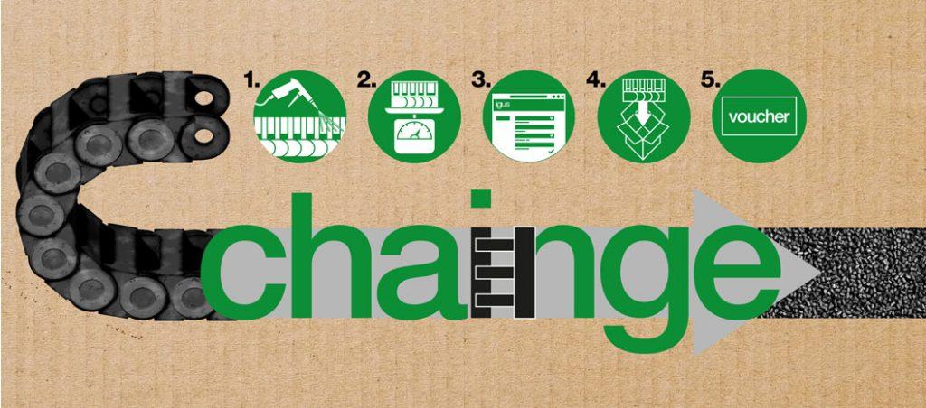 igus lança o primeiro programa de reciclagem para calhas articuladas a nível mundial