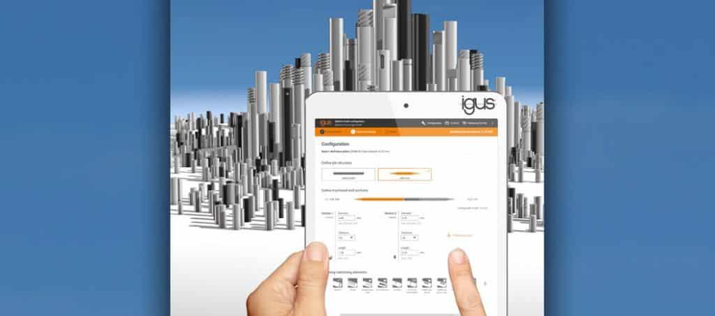 Nova ferramenta online da igus configura veios em segundos