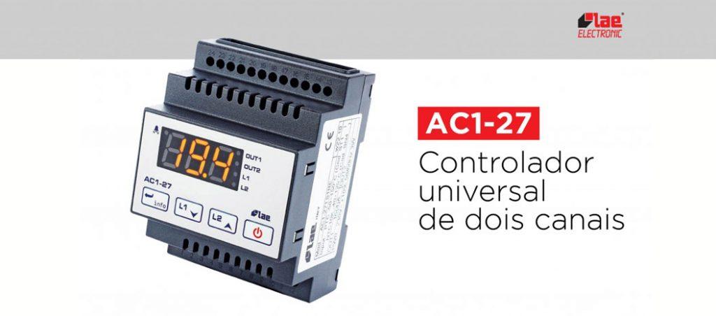 Controlador de temperatura universal AC1-27 da LAE Electronic