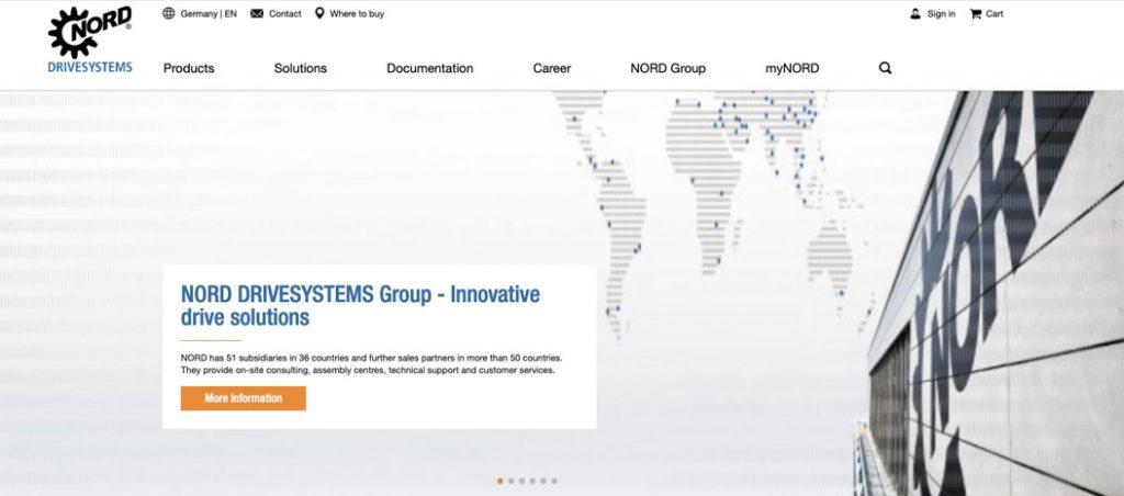 Novo website da NORD DRIVESYSTEMS já disponível