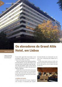 Artigo sobre os elevadores do Grand Altis Hotel